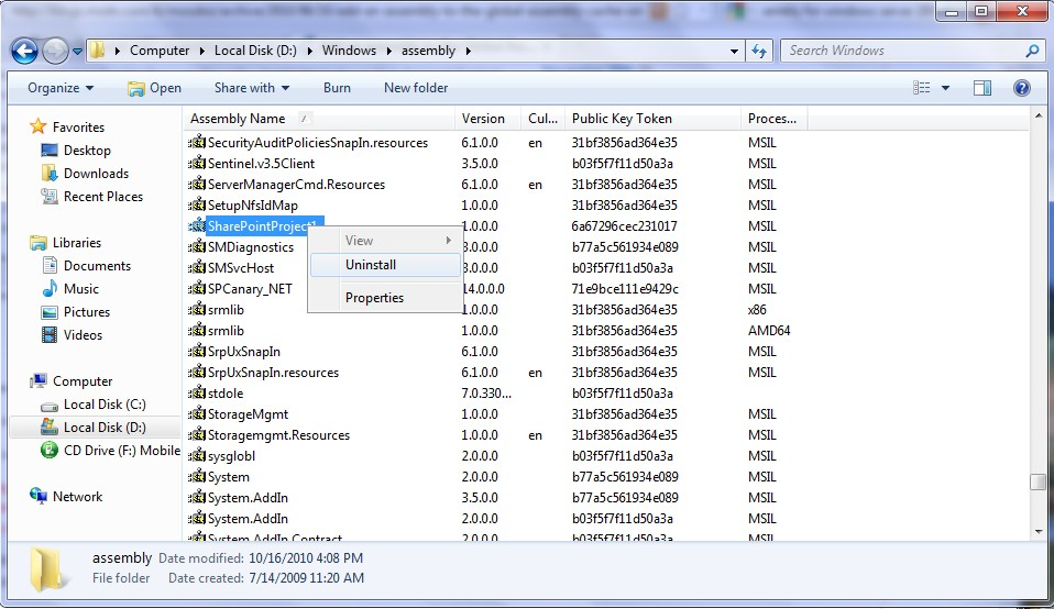 INstall and un-install  NET Assembly into GAC on Windows