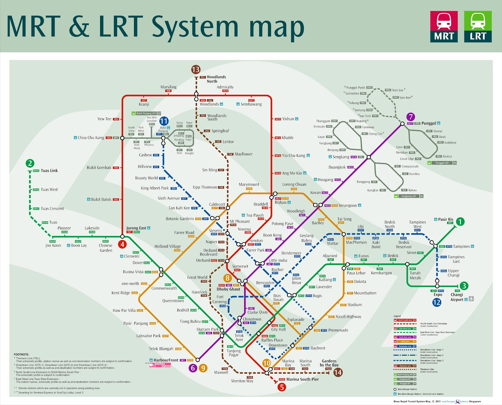 Latest future MRT map showing all the MRT lines coming over the next ...